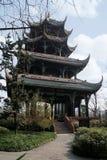 Il padiglione di Wangjiang di 4 livelli in un giardino a Chengdu Fotografie Stock Libere da Diritti