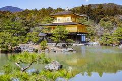 Il padiglione dorato - Kinkaku-ji Fotografie Stock Libere da Diritti