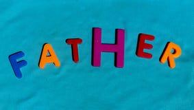 Il padre di parola composto dalle lettere fotografie stock libere da diritti