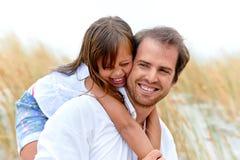 Genitore e bambino svegli Fotografia Stock