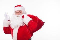 Il padre felice Christmas sta esprimendo il positivo Fotografie Stock