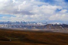 Il paesaggio autunnale del plateau del Tibet - di Qinghai Fotografie Stock