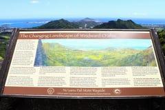 Il paesaggio cambiante di Oahu di sopravvento Fotografia Stock Libera da Diritti
