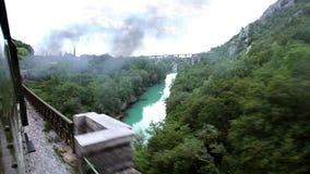 il paesaggio dal treno commovente video d archivio