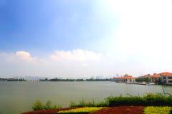 Il paesaggio del lago Fotografie Stock