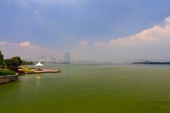 Il paesaggio del lago Fotografia Stock Libera da Diritti
