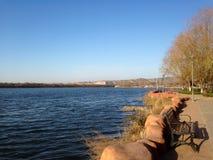 Il paesaggio del lago Fotografie Stock Libere da Diritti