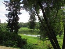 Il paesaggio del parco di Pavlovsk Fotografia Stock Libera da Diritti