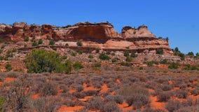 Il paesaggio del parco nazionale di Canyonlands fotografia stock libera da diritti