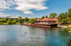 Il paesaggio del villaggio di Northbrook, è un sobborgo ricco di Chicago, situato al bordo nordico del cuoco County fotografia stock