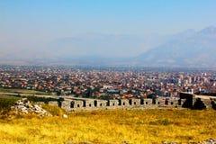 Il paesaggio dell'Albania Fotografia Stock