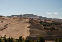 Il paesaggio dell'Andalusia Fotografie Stock Libere da Diritti