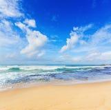 Il paesaggio dell'Oceano Indiano Bella vista di un mare Fotografia Stock Libera da Diritti