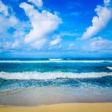 Il paesaggio dell'Oceano Indiano Bella vista di un mare Fotografie Stock