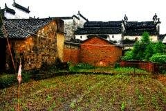 Il paesaggio della campagna del villaggio antico di Wuyuan immagini stock