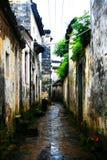 Il paesaggio della campagna del villaggio antico di Wuyuan immagine stock