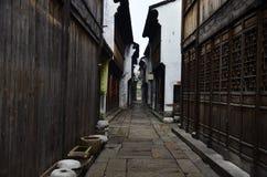Il paesaggio della città antica di Yuehe a Jiaxing, Cina fotografie stock