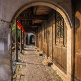 Il paesaggio della città antica in Nanxun Fotografia Stock