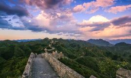 Il paesaggio della grande muraglia Fotografia Stock Libera da Diritti