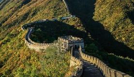 Il paesaggio della grande muraglia Immagine Stock