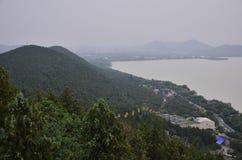Il paesaggio della montagna di Yunlong a Xuzhou, Cina immagine stock libera da diritti