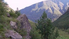 Il paesaggio della montagna, nuvole riguarda i picchi archivi video