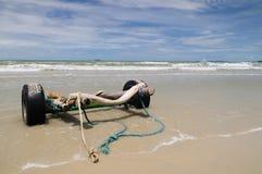 Il paesaggio della spiaggia piena di sole Fotografia Stock