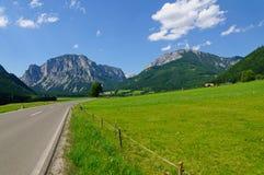 Il paesaggio delle alpi austriache centrali Fotografie Stock Libere da Diritti