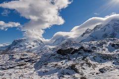Il paesaggio delle alpi svizzere vicino monta il Cervino, Valais Fotografia Stock Libera da Diritti