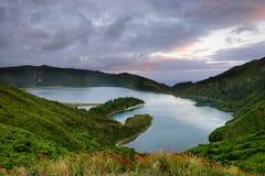 Il paesaggio delle Azzorre è una destinazione stupefacente di festa di Pasqua Fotografie Stock