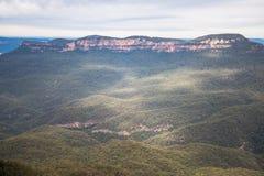 Il paesaggio delle montagne blu parco nazionale, Nuovo Galles del Sud, Australia Fotografie Stock Libere da Diritti