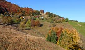 Il paesaggio di autunno della montagna Immagini Stock Libere da Diritti