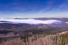 Il paesaggio di autunno della montagna di Sumava Fotografia Stock Libera da Diritti