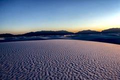 Il paesaggio di bianco insabbia il parco nazionale UT, U.S.A. Immagini Stock