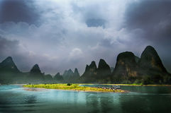 Il paesaggio di Guilin Fotografia Stock