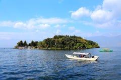 Il paesaggio di Lakeside del lago Erhai fotografia stock