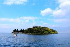 Il paesaggio di Lakeside del lago Erhai fotografie stock