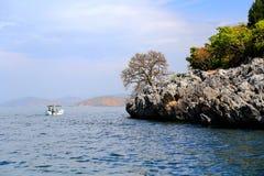 Il paesaggio di Lakeside del lago Erhai immagine stock libera da diritti