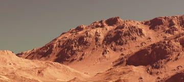 Il paesaggio di Marte, 3d rende Immagine Stock