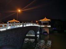 Il paesaggio di notte di Xuzhoucity alla vetta di Yunlong in Xuzhou Cina immagine stock libera da diritti