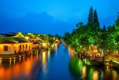Il paesaggio di wuzhen, una città scenica storica fotografia stock libera da diritti