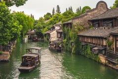 Il paesaggio di wuzhen, una città scenica storica immagini stock