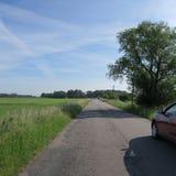Il paesaggio, il campo ed il prato in Meclemburgo-Pomerania, circonda la d Immagine Stock Libera da Diritti