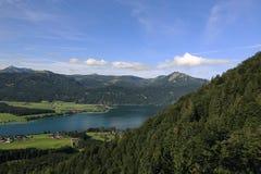 Il paesaggio intorno al lago Wolfgangsee, Schafbergbahn, Salzkammergut, Salisburgo, Austria Immagini Stock Libere da Diritti