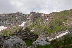 Il paesaggio magnifico della montagna della riserva naturale di Caucaso Fotografia Stock Libera da Diritti