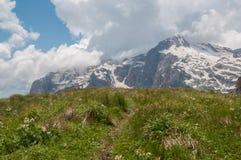 Il paesaggio magnifico della montagna della riserva naturale di Caucaso fotografie stock libere da diritti