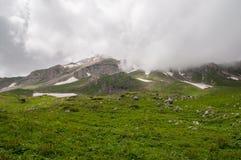 Il paesaggio magnifico della montagna della riserva naturale di Caucaso Fotografia Stock