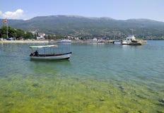Il paesaggio nel ohrid del lago, Macedonia Immagine Stock