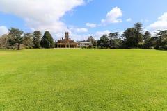 Il paesaggio nel parco di werribee, Melbourne, Australia fotografia stock