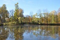 il paesaggio nel vecchio parco Immagini Stock Libere da Diritti